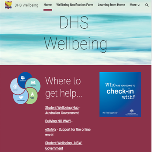 DHS Wellbeing Website Link